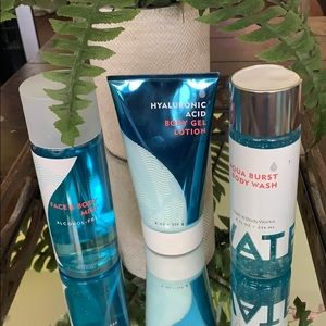 NEW BBW 3 PC WATER IS EVERYTHING FACE & BODY CARE